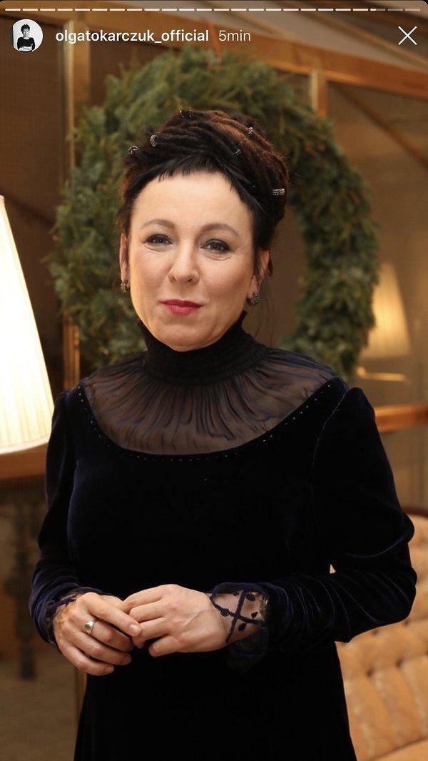 Olga Tokarczuk, w kreacji Baczyńskiej