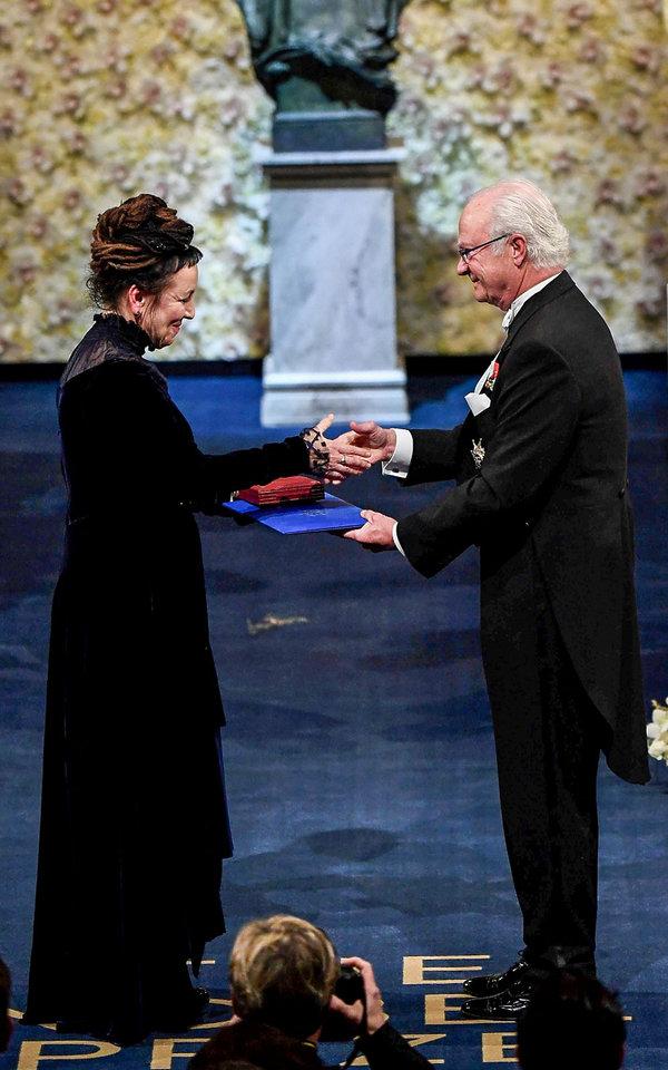 Olga Tokarczuk, wręczenie Nagrody Nobla 2019