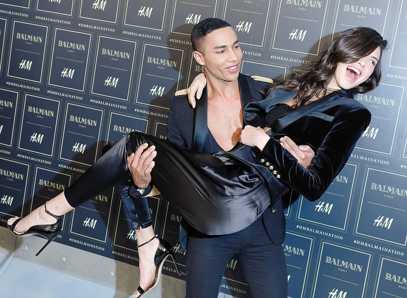 Olivier Rousteing, Kendall Jenner na pokazie Balmain x H&M