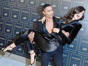 Olivier Rousteing, Kendall Jenner na pokazie Balmain x H&M