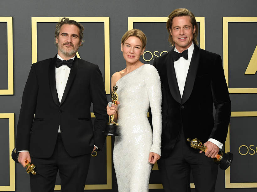 Oscary 2020: laureaci Oscarów Joaquin Phoenix, Renee Zellweger, Brad Pitt