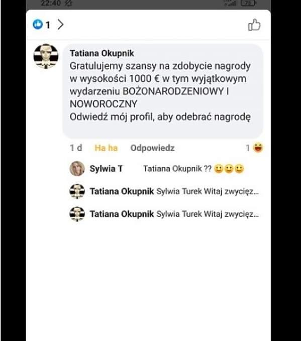 Oszuści, Tatiana Okupnik