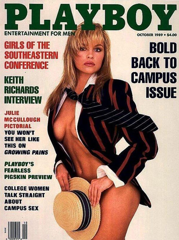 Pamela Anderson na swojej pierwszej okładce Playboya