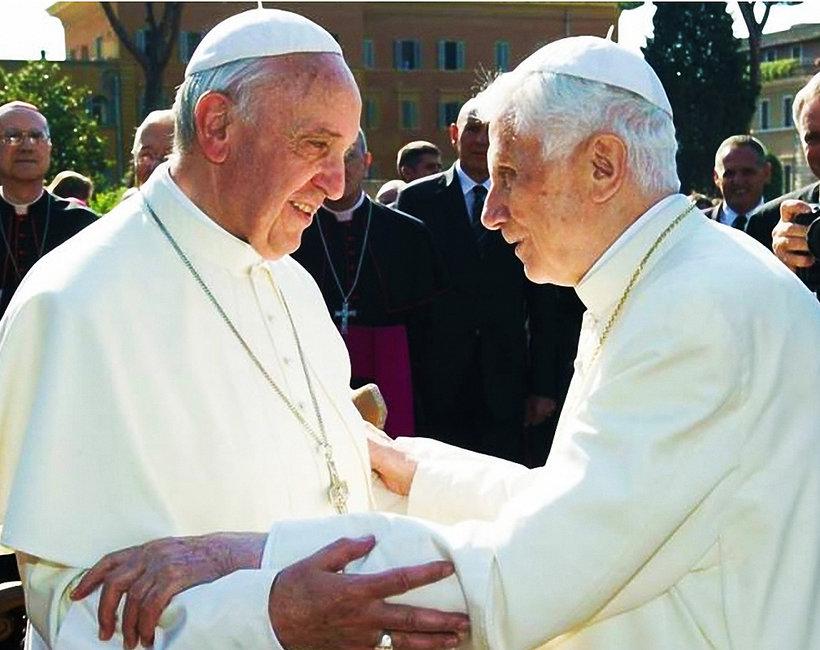 Papież Franciszek i Benedykt XVI
