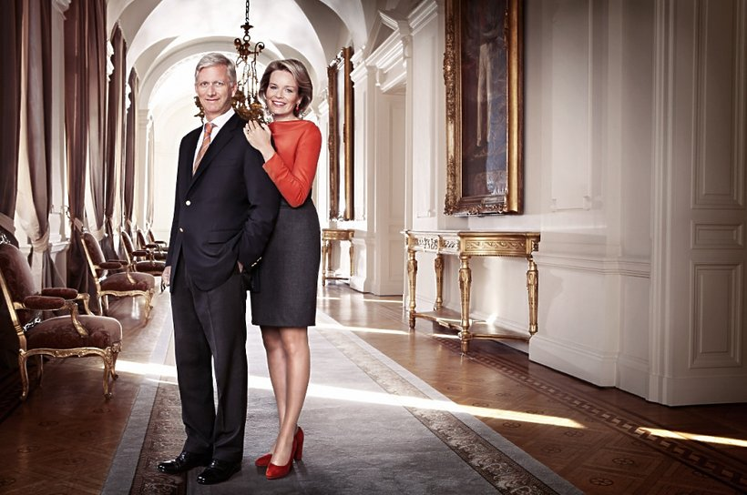 Para królewska w Pałacu Królewskim w Brukseli