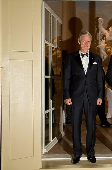 Para prezydencka i królewska na przyjęciu