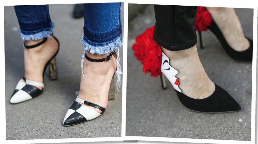 Paris Fashion Week. Czarno-białe szpilki