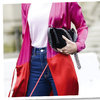 Paris Fashion Week. Kolorowy kardigan