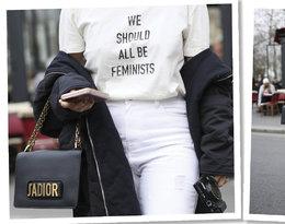 Paris Fashion Week. T-shirt z napisem