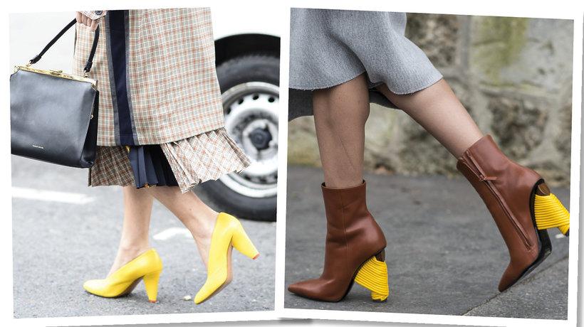 Paris Fashion Week. Zółte buty