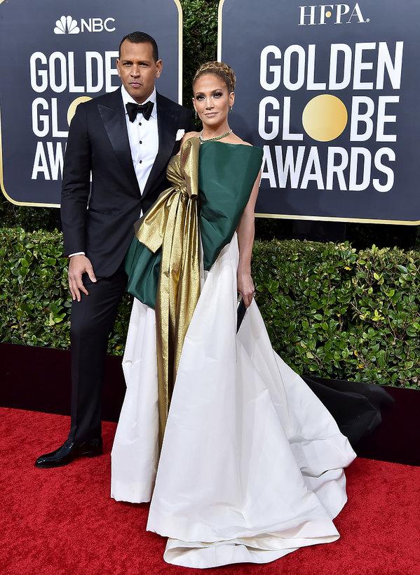 pary, Złote Globy 2020, Alex Rodriguez, Jennifer Lopez