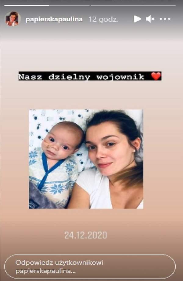 Paulina Papierska z synkiem