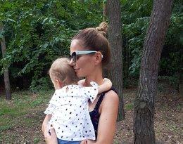 Paulina Sykut-Jeżyna z  córeczką, Różą