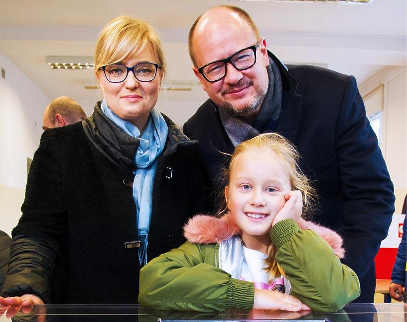 Paweł Adamowicz, prezydent Gdańska, z rodziną