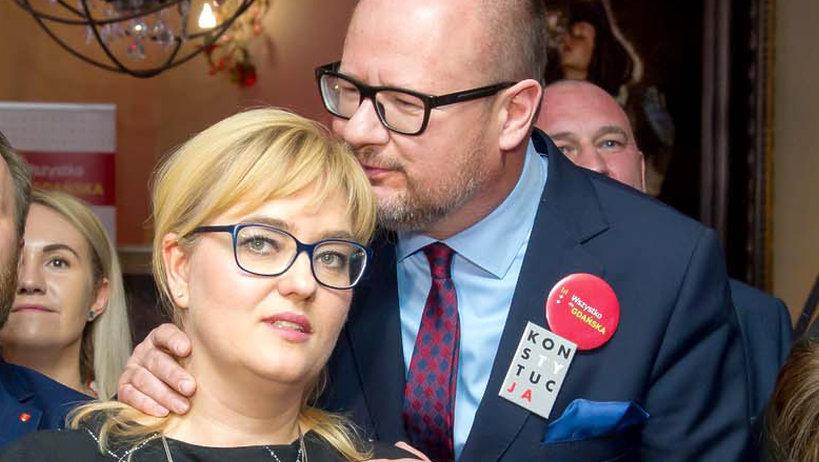 Paweł Adamowicz, prezydent Gdańska, z żoną
