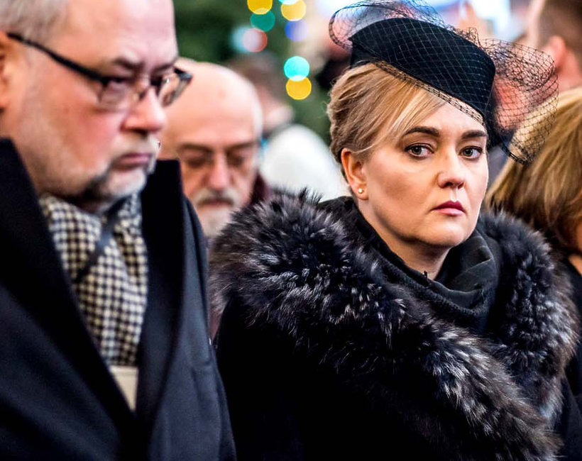 Paweł Adamowicz, prezydent Gdańska, żona Magdalena, pogrzeb