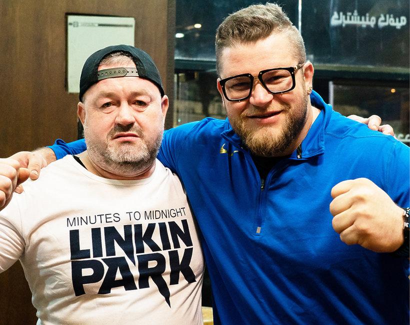 Paweł Fajdek z ojcem