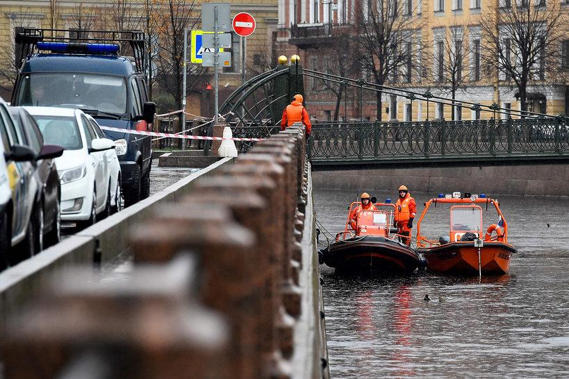 Petersburg, rzeka Mojka