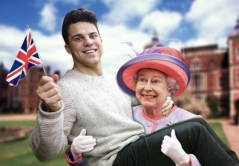 Photoshop, parodia, królowa Elżbieta