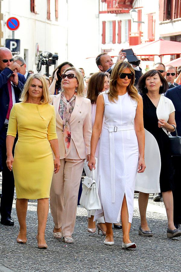 pierwsze damy na szczycie G7 2019, Malgorzata Tusk, Cecilia Morel, Melania Trump