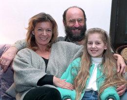 Piotr Fronczewski z żoną i córką Magdą