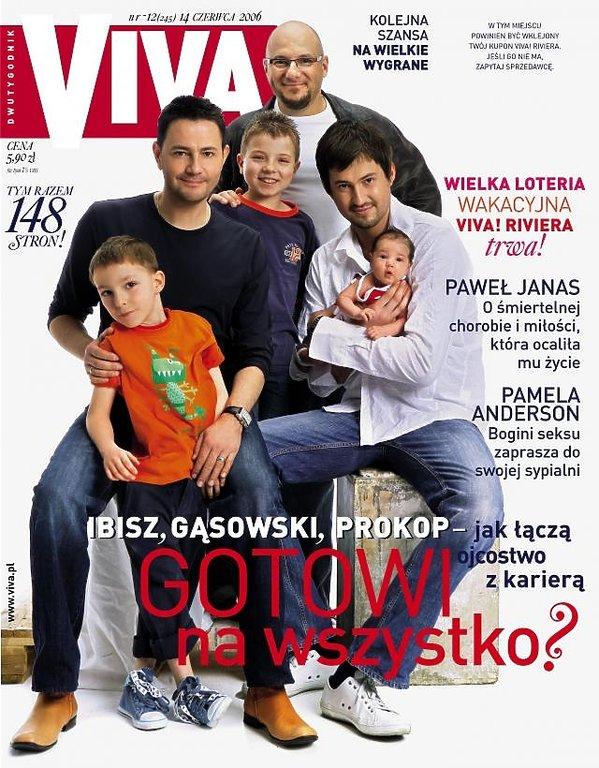 Piotr Gąsowski, Marcin Prokop i Krzysztof Ibisz z dziećmi na okładce magazynu Viva!