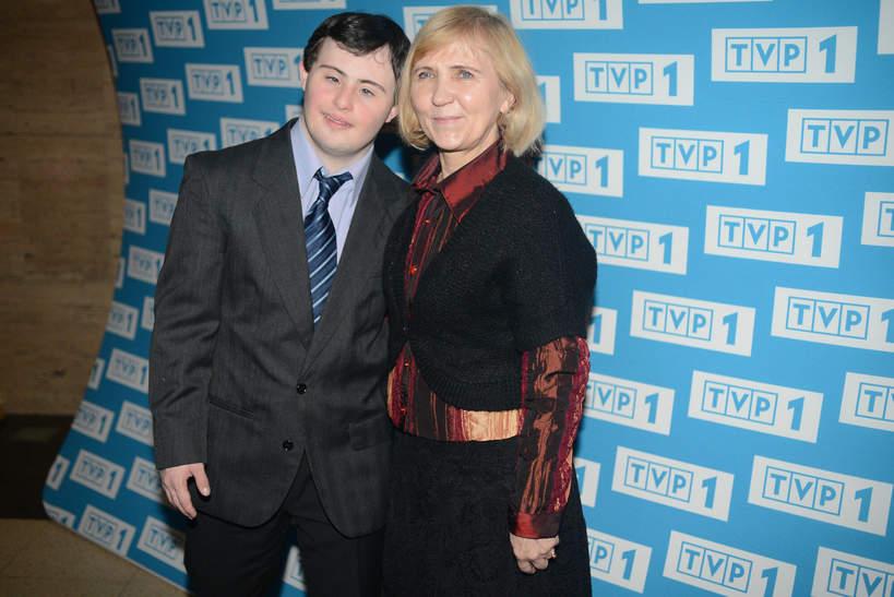 Piotr Swend z mama, Elżbietą Branicką, 2013 rok