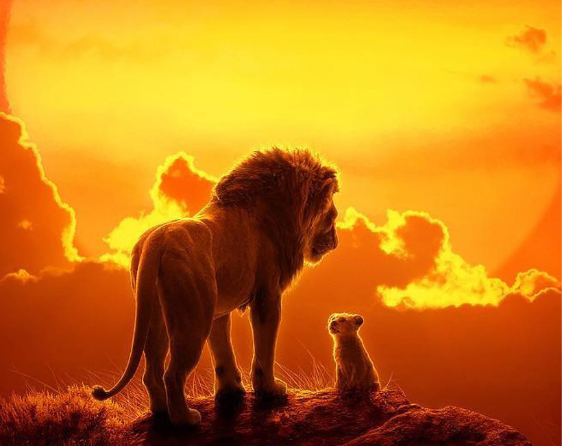 "plakat do filmu ""Król lew"""