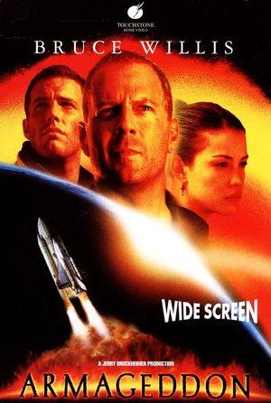 plakat filmu Armageddon. Bruce Willis, Michael Bay