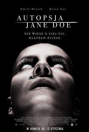 plakat filmu Autopsja Jane Doe. Monolith Films