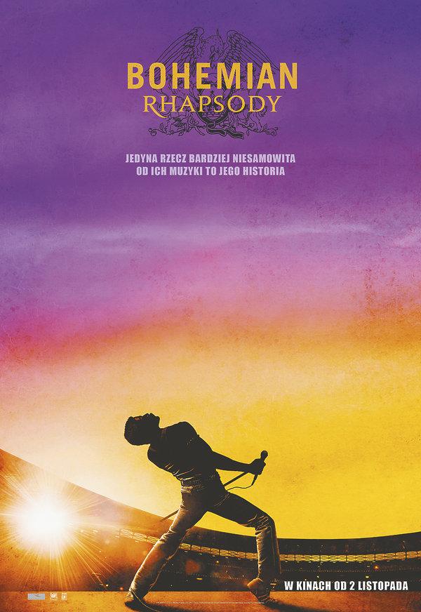 Plakat filmu Bohemian Rhapsody o zespole Queen
