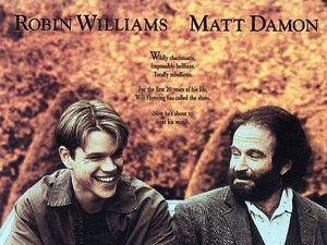 plakat filmu Buntownik z wyboru. Matt Damon, Ben Affleck, Robin Williams