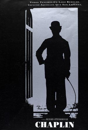 plakat filmu Chaplin. Robert Downey Jr.