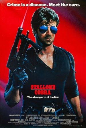 plakat filmu Cobra. Sylvester Stallone