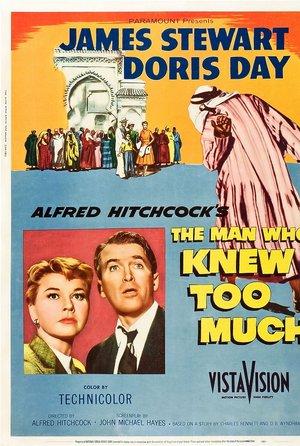 plakat filmu Człowiek, który wiedział za dużo