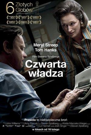 plakat filmu Czwarta władza, reż. Steven Spielberg. Monolith Films