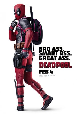 plakat filmu Deadpool. Ryan Reynolds
