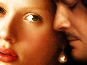 plakat filmu Dziewczyna z perłą