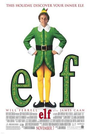 plakat filmu Elf. Will Ferrell