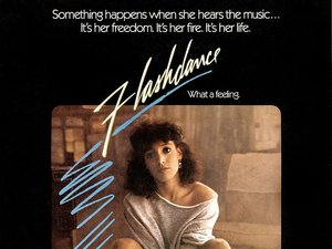 plakat filmu Flashdance. Jennifer Beals