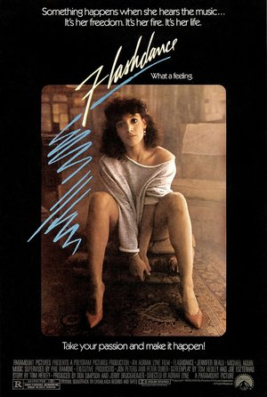 plakat filmu Flashdance. Jennifer Beals