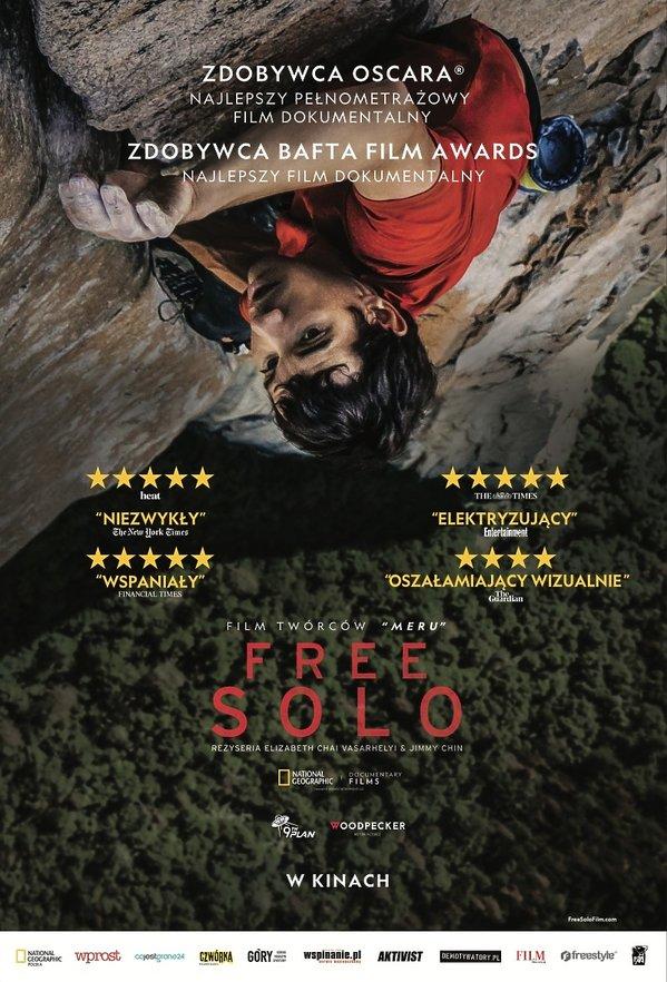 plakat filmu Free Solo: ekstremalna wspinaczka