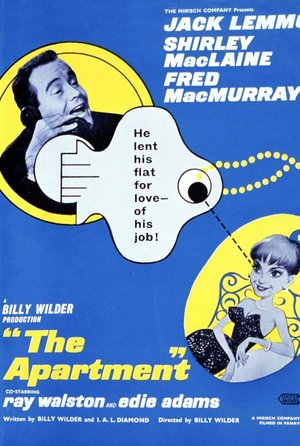 plakat filmu Garsoniera. Billy Wilder