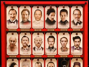 plakat filmu Grand Budapest Hotel. Wes Anderson