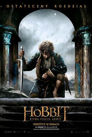 plakat filmu Hobbit Bitwa pięciu armii