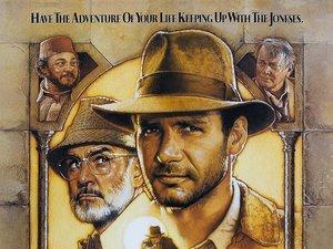 plakat filmu Indiana Jones i Ostatnia krucjata. Steven Spielberg