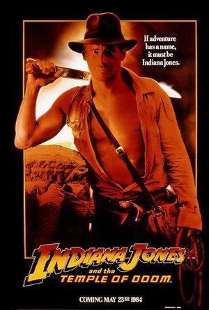 plakat filmu Indiana Jones i Świątynia zagłady. Steven Spielberg