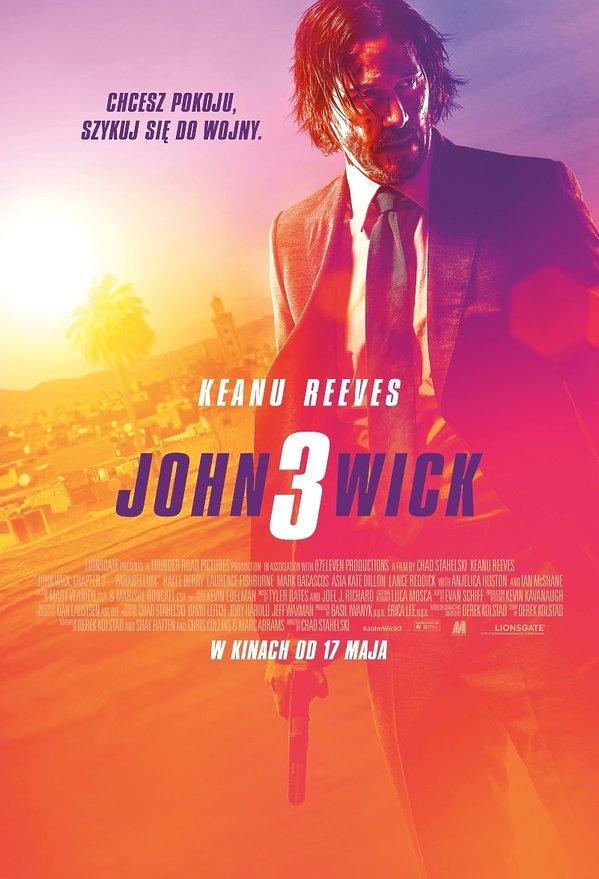 plakat filmu John Wick 3. Keanu Reeves