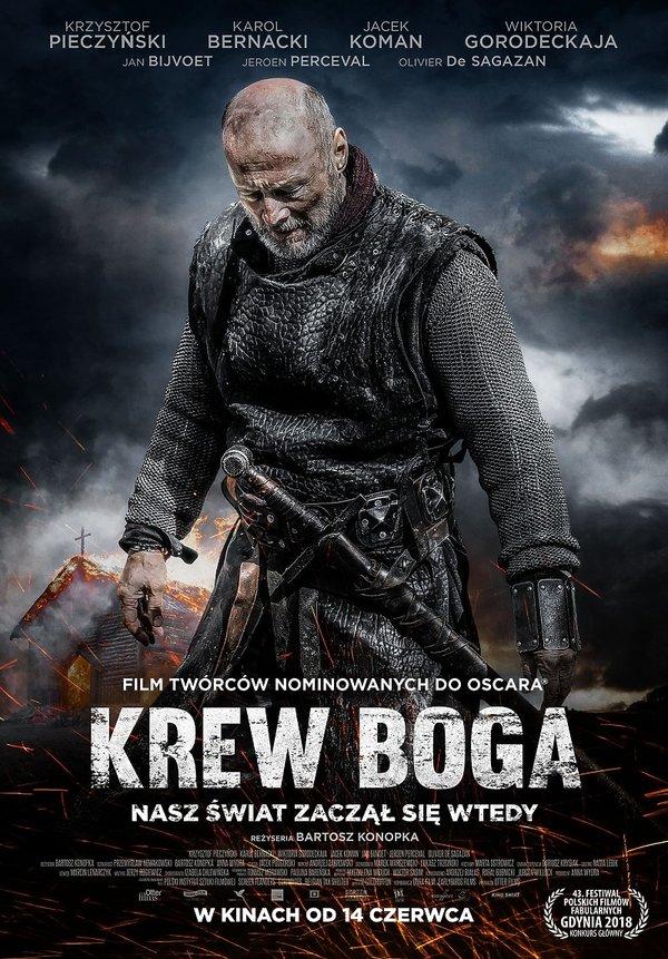 plakat filmu Krew Boga