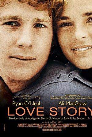plakat filmu Love Story, Ryan O'Neil, Ali MacGraw